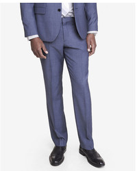 Express Slim Photographer Blue Wool Twill Suit Pant