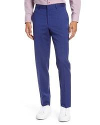 Nordstrom Men's Shop Tech Smart Trim Fit Stretch Wool Travel Trousers
