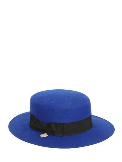 ... Blue Wool Hats Alex Boater Wool Felt Hat ... f6d864c45573