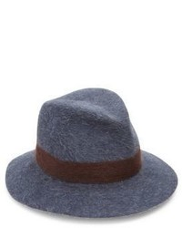 Lola Hats Shadow Felted Wool Rabbit Fur Fedora