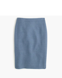 J.Crew Petite No 2 Pencil Skirt In Double Serge Wool