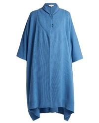 Stella McCartney Asymmetric Hem Cashmere And Wool Blend Poncho