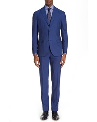 Boglioli Fresco Slim Fit Solid Wool Suit