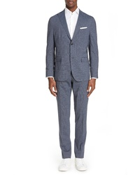 Boglioli Fresco Slim Fit Stretch Solid Wool Suit
