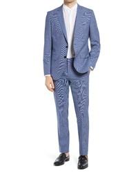 BOSS Hugegenius Classic Fit Solid Wool Suit