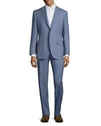 Canali Solid Wool Two Button Suit