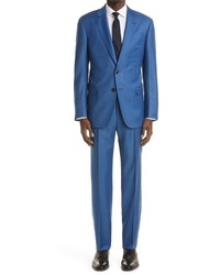 Giorgio Armani Windowpane Check Virgin Wool Suit