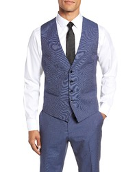 BOSS Hugegenius Trim Fit Solid Three Piece Wool Suit