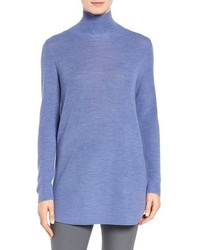 Eileen Fisher Fine Rib Merino Turtleneck Tunic