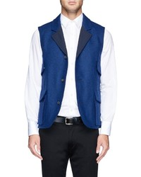 Hardy Amies Reversible Wool Felt Vest
