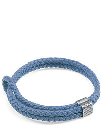 Woven leather bracelet medium 700355