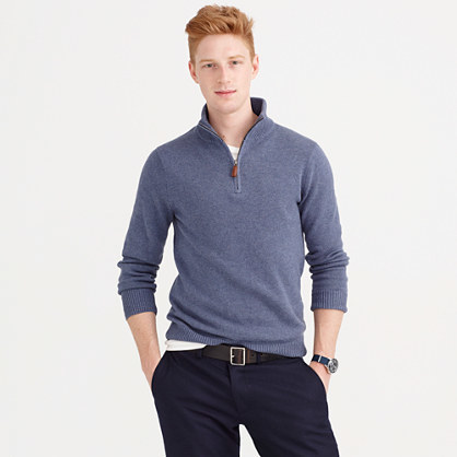 J.Crew Cotton Cashmere Half Zip Sweater | Where to buy & how to wear