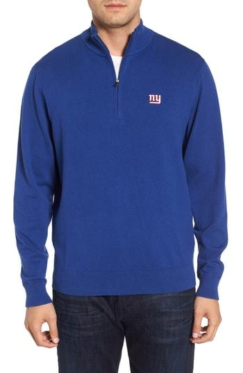 8956e6c4380 ... Cutter   Buck New York Giants Lakemont Regular Fit Quarter Zip Sweater
