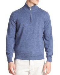 Brunello Cucinelli Quarter Zip Cashmere Sweater