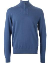 Z Zegna Zip Collar Sweater