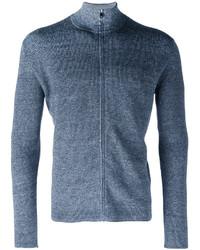 Blue Zip Sweater