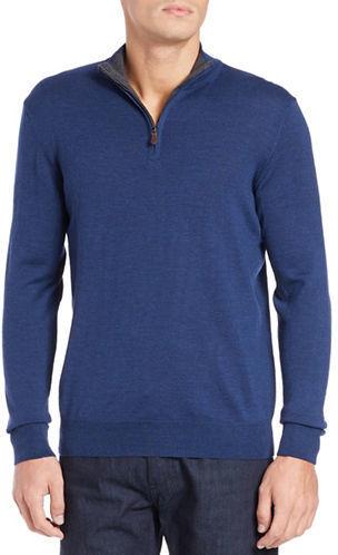 Black Brown 1826 Front Zip Merino Wool Sweater | Where to buy ...