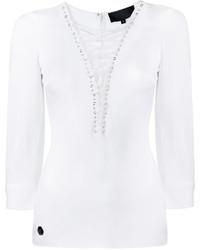 Blusa blanca de Philipp Plein