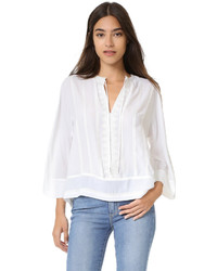 Blusa blanca de Rebecca Minkoff