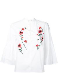Blusa bordada blanca de Muveil