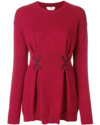 Blusa bordada roja de Fendi
