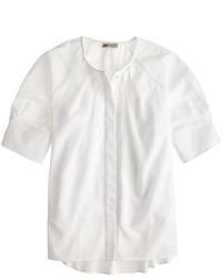 Blusa campesina blanca de J.Crew