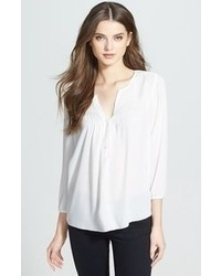 Blusa campesina blanca de NYDJ