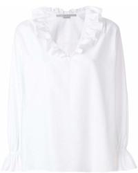 Blusa campesina con volante blanca de Stella McCartney