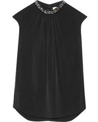 Blusa con adornos negra de MICHAEL Michael Kors