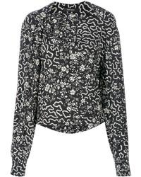 Blusa con estampado geométrico Negra de Isabel Marant