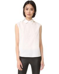 Blusa con recorte blanca de MCQ