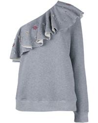 Blusa con volante gris de MSGM