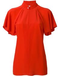 Blusa Con Volante Roja de Lanvin