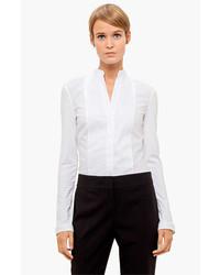 Blusa de Botones Blanca de Akris Punto