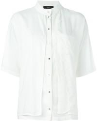 Blusa de botones blanca de Diesel