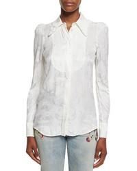 Blusa de botones blanca de Roberto Cavalli