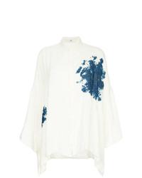 Blusa de Botones Estampada Blanca de Y's