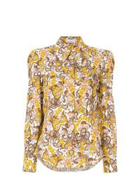 Blusa de botones estampada en multicolor de Chloé