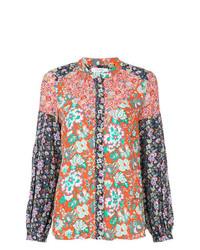 Blusa de botones estampada en multicolor de Frame Denim