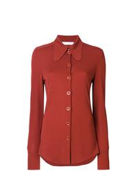 Blusa de botones naranja de Chloé