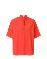 Blusa de botones naranja de Tomas Maier