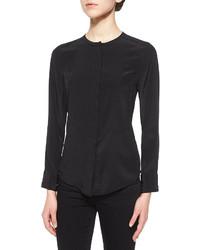 Blusa de botones negra de Burberry