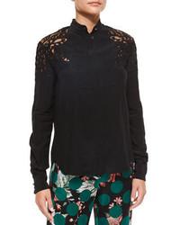 Blusa de botones negra de Roberto Cavalli