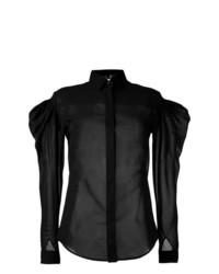 Blusa de botones negra de Saint Laurent