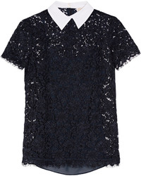 Blusa de encaje azul marino de MICHAEL Michael Kors