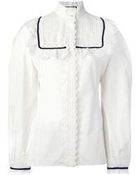 Blusa de encaje blanca de Gucci