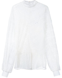 Blusa de encaje blanca de Muveil