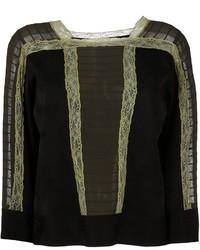 Blusa de encaje negra de Etro