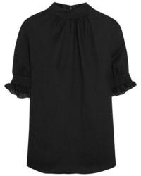 Blusa de encaje negra de MCQ