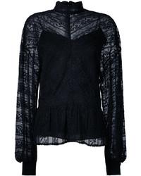 Blusa de encaje negra de Muveil